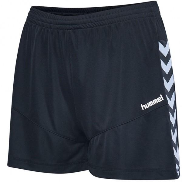 Die neue hummel Court Damen Poly Shorts in schwarz
