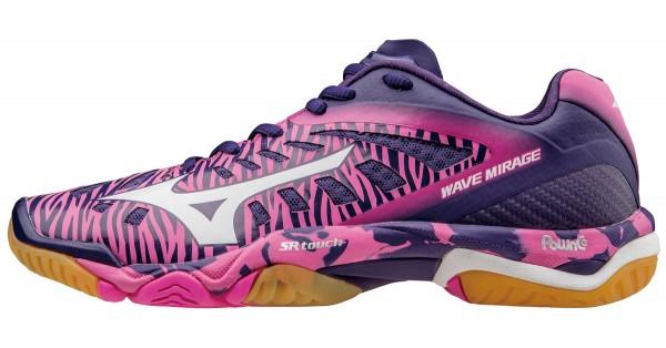Die neuen Mizuno Wave Mirage Damen Handballschuhe in pink/lila