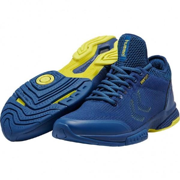 Die neuen hummel Aerocharge Supreme Knit Handballschuhe in blau