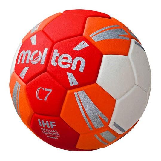 Der neue Molten C7 Handball in rot orange für Kinder
