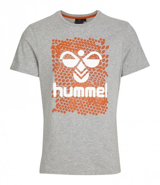 Das neue hummel Mens Hexagon T-Shirt in grey kaufen