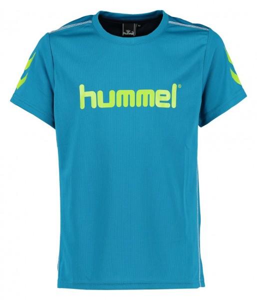 Das neue hummel Axel T-Shirt für Kinder in türkis