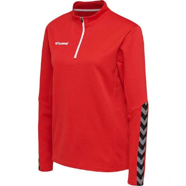 hummel-authentic-half-zip-sweat-woman-red