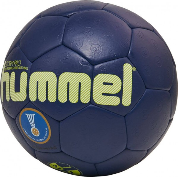 Der neue hummel Storm Pro Handball 2019 in blau-gelb