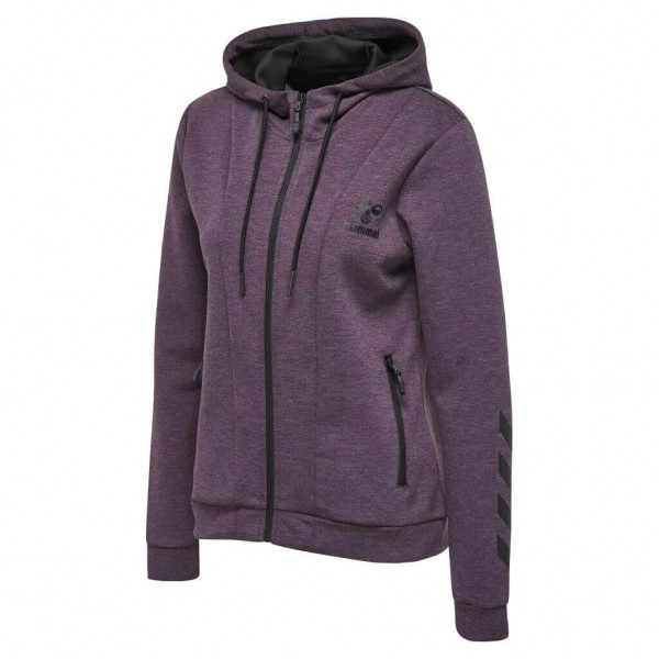 hummel Classic Bee Zion Damen Zip Hoodie - blackberry