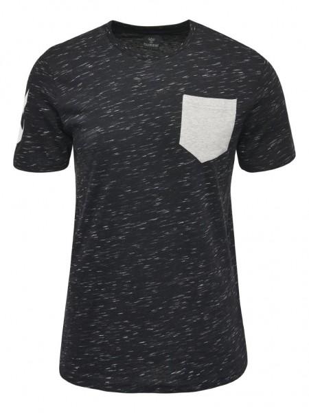 hummel Glay T-Shirt für Herren in black-grey