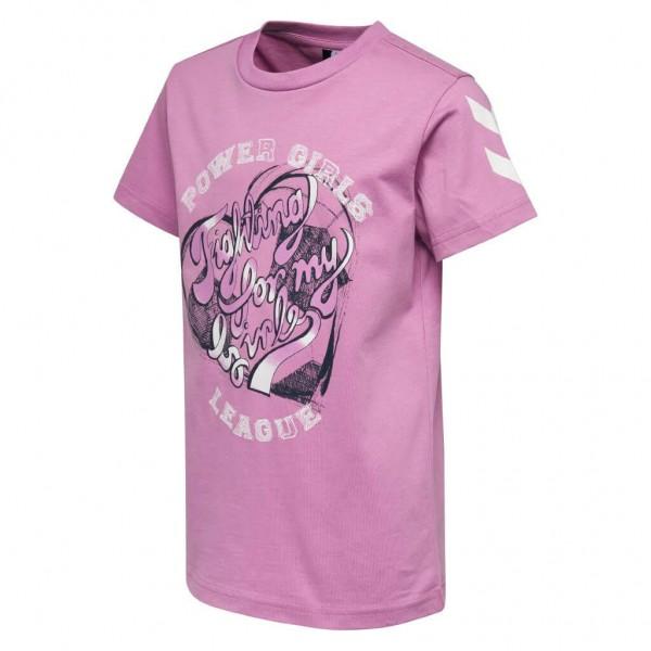 Das neue hummel Kevyne Mädchen T-Shirt in rosa