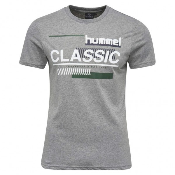 hummel Cruz T-Shirt in grau meliert
