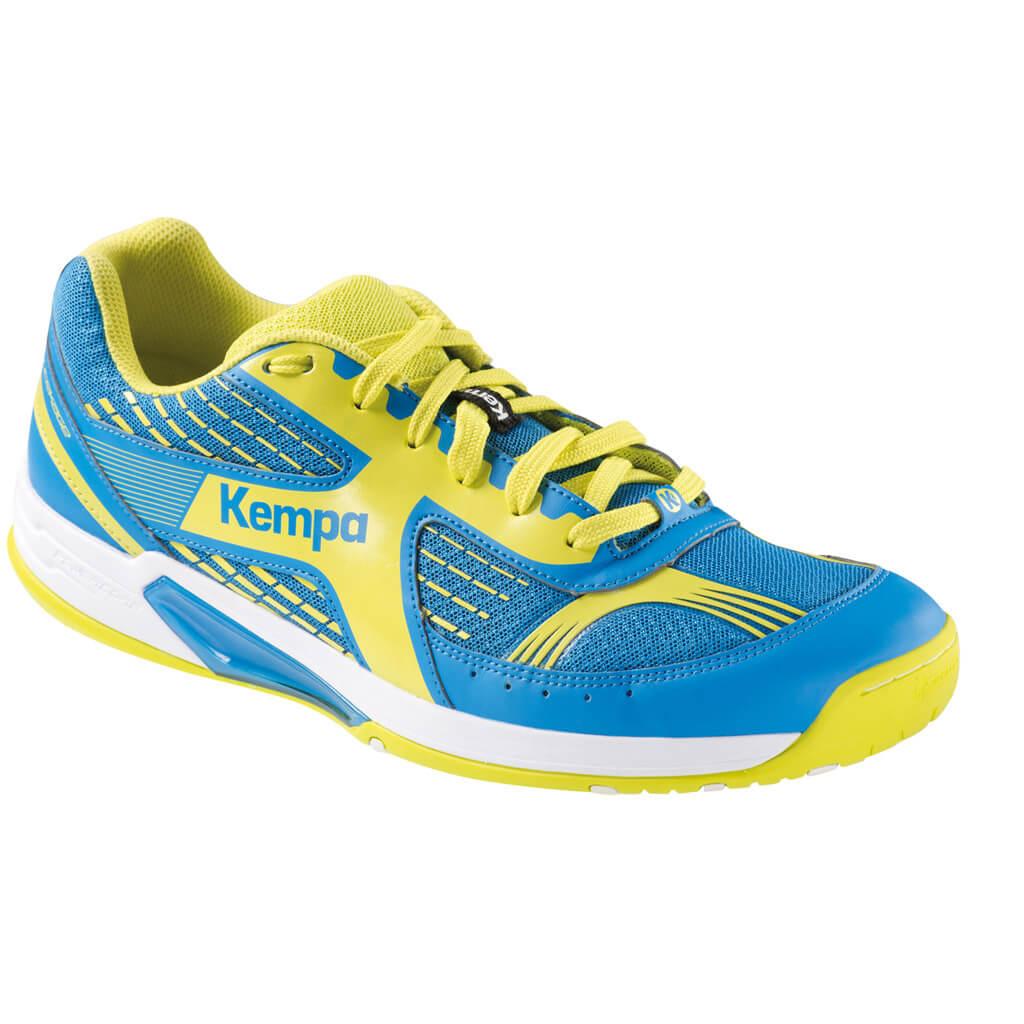 kempa wing herren handballschuhe in gelb blau auf rechnung. Black Bedroom Furniture Sets. Home Design Ideas