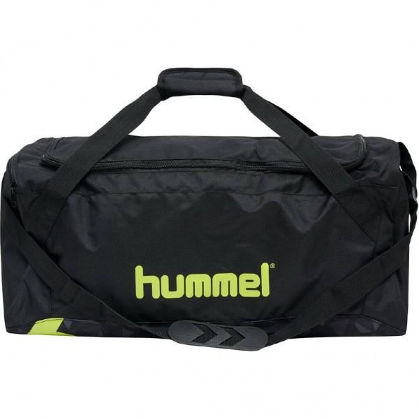 hummel Active Sporttasche in schwarz/neon gelb