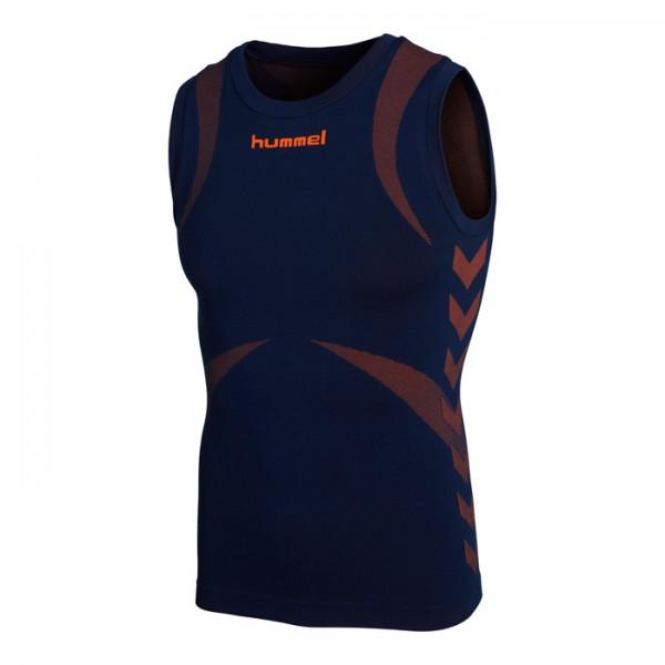 Hummel Funktions-Shirt Tank Top - dark denim/shocking orange