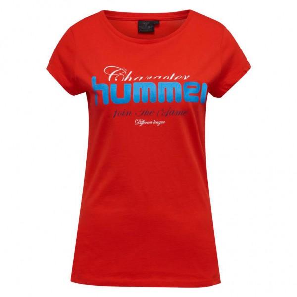 Das neue hummel Sofia Damen T-Shirt in rot