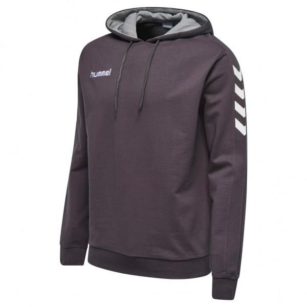 hummel-core-baumwoll-hoodie-grau