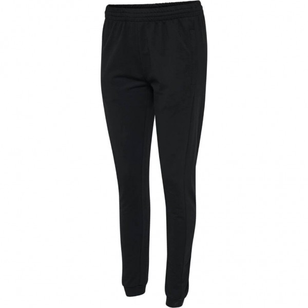 hummel-go-cotton-jogginghose-damen-schwarz