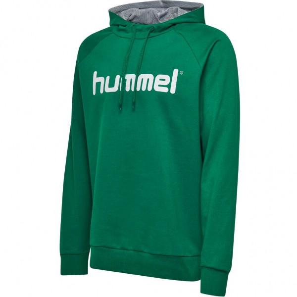 hummel-go-cotton-logo-hoodie-evergreen