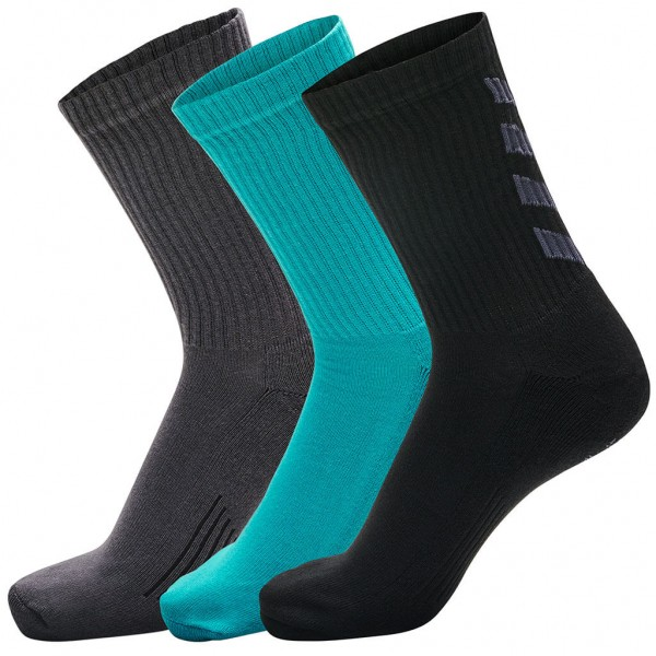 Die neuen hummel Fundamental 3er Pack Socken in bluebird-asphalt