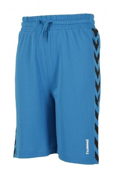 Die neue hummel Astro Short in blau für Kinder jetzt günstig kaufen