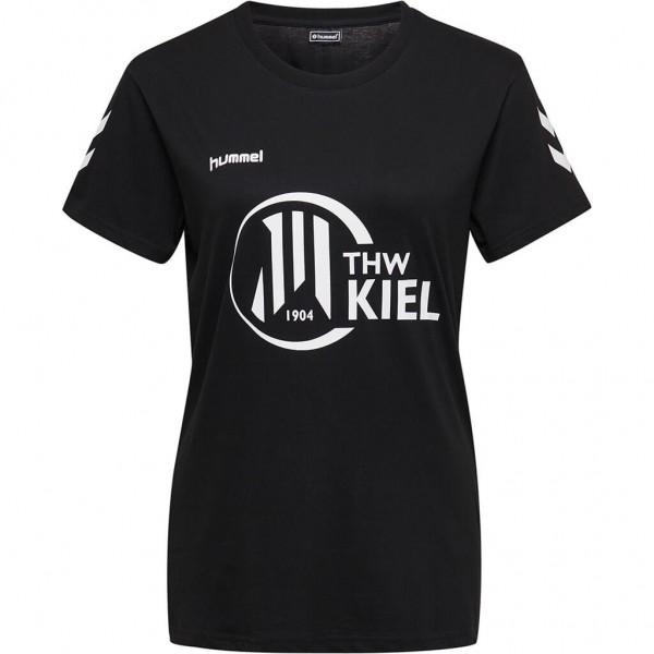 hummel THW Kiel Damen Fan Tee in schwarz