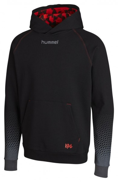 hummel Rebel Cotton Hoodie in schwarz/rot