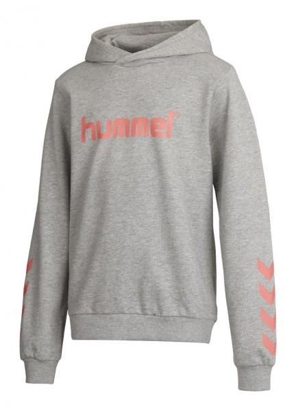 Das neue hummel Kess Hoodie in grey melange/rosa günstig kaufen
