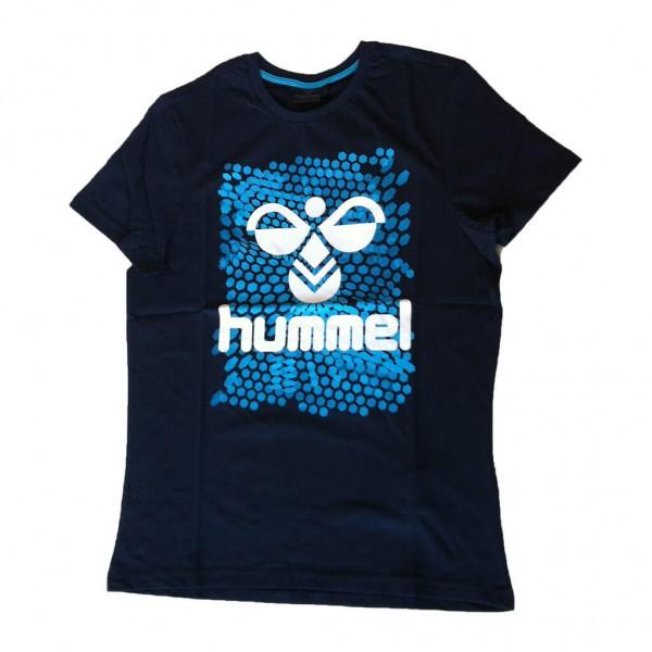 Hummel Mens Hexagon SS Tee - navy