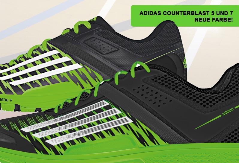 Jetzt die neue Farbe der Counterblast Handballschuhe sichern.