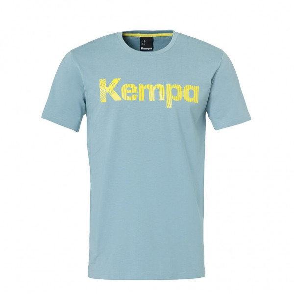 Kempa Graphic T-Shirt dove blau
