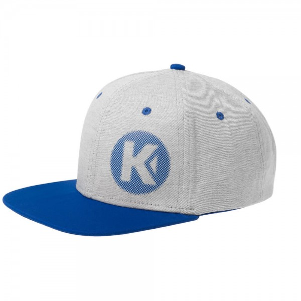 Das Kempa Fly High Flat Cap in grau/blau