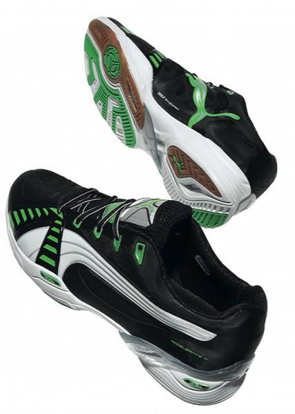 Puma Accelerate VI - black/fluo green - Handballschuhe