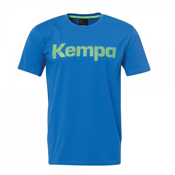 Das neue Kempa Graphic T-Shirt in azurblau