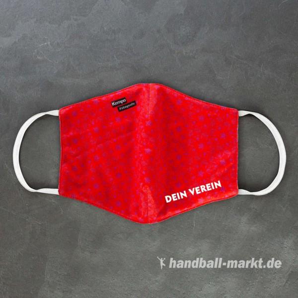 Die neuen Kempa Mund-Nasen-Masken in rot/magenta