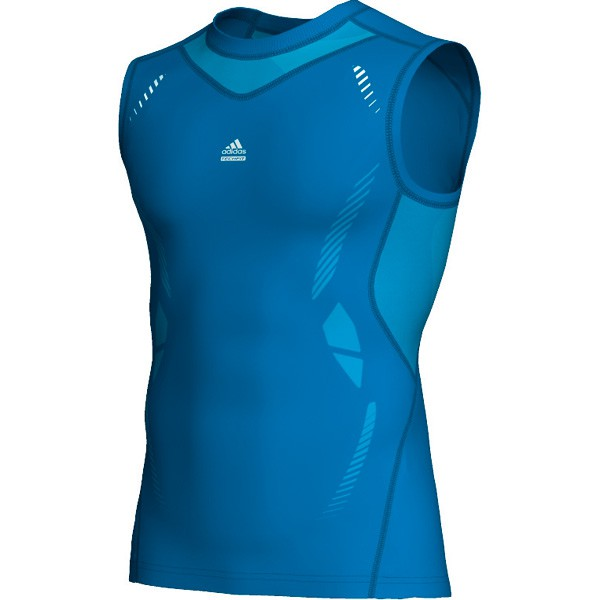 Adidas TECHFIT Preparation SL Tee - sharp blue