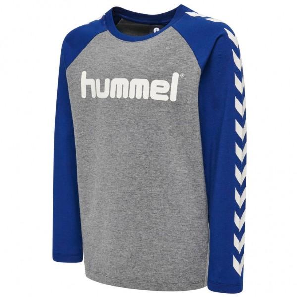 hummel Boys Longsleeve Shirt in blau/grau