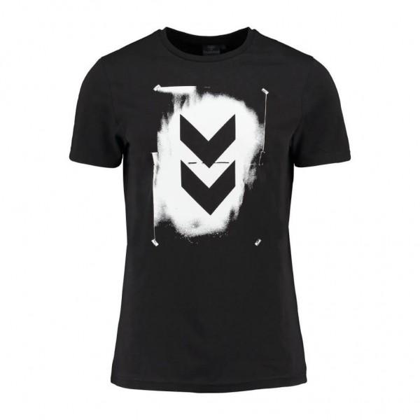 hummel Logan T-Shirt für Herren in schwarz aus 100% Baumwolle