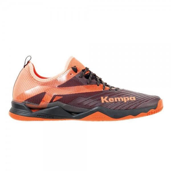 Die neuen Kempa Wing Lite 2.0 Handballschuhe in schwarz/orange