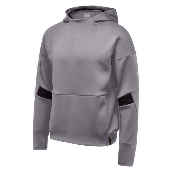 hummel-tech-move-poly-hoodie-grey