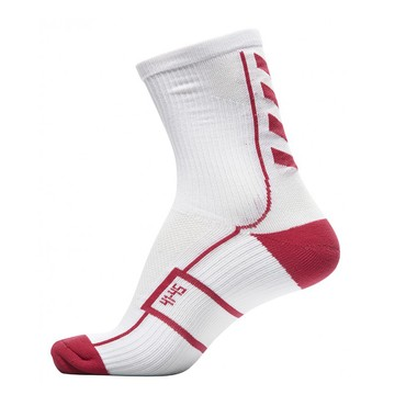 Hummel Tech Indoor Socken low - white/persian red - limitiert