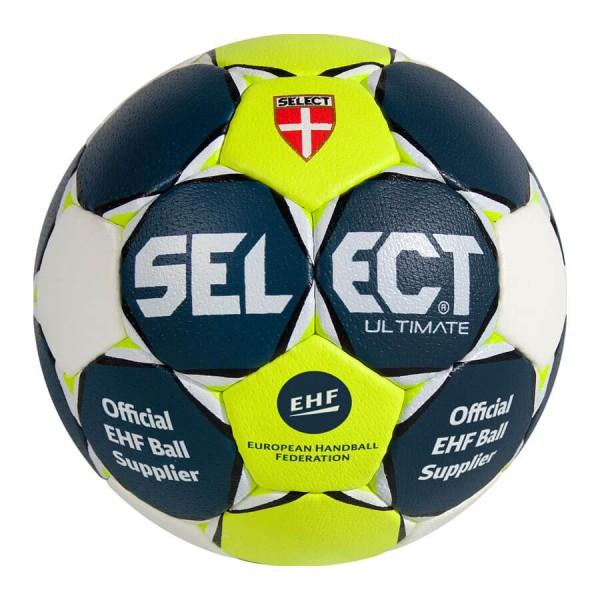 Der neue Select Ultimate Handball in neongelb-dunkelblau jetzt kaufen