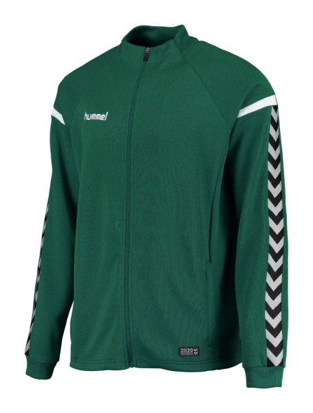 hummel-authentic-charge-poly-zip-jacke-evergreen