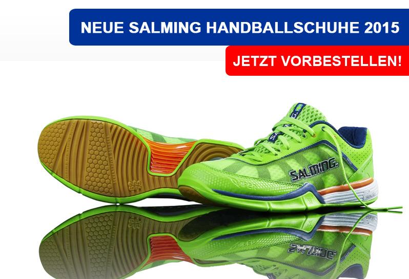 Die neuen Salming Viper Handballschuhe in neon grün