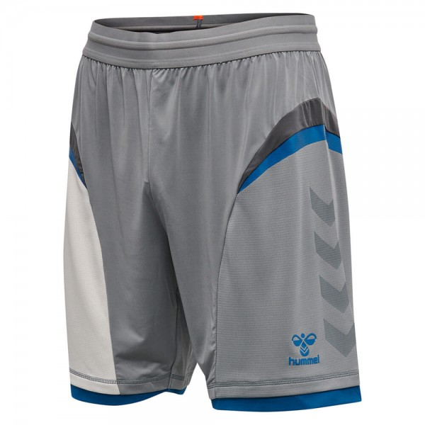 Die neue hummel Inventus Shorts in silbergrau