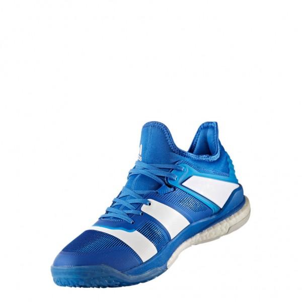 Die neuen adidas Stabil X Handballschuhe für Herren in blau