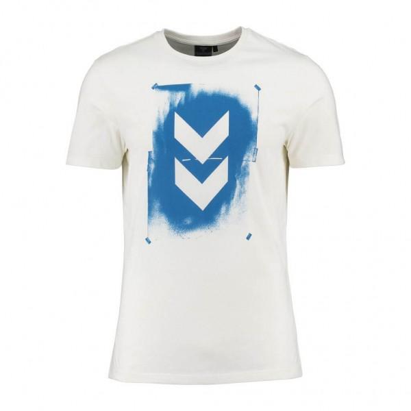 hummel Logan T-Shirt Herren in weiss-blau günstig kaufen
