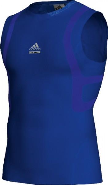 Adidas Techfit Powerweb S/L Tee - cobalt