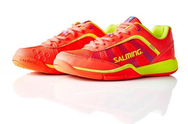 Die neuen Salming Adder Damen Handballschuhe in diva pink