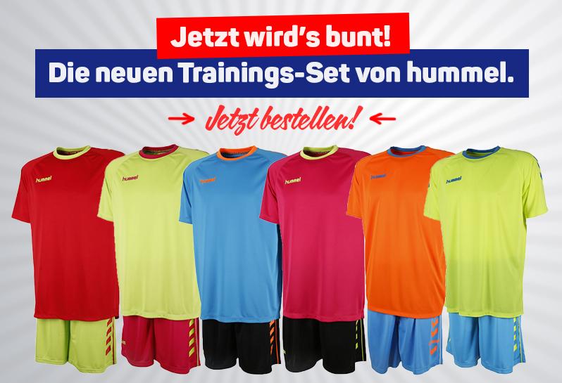 Jetzt die farbenfrohen Trainings-Sets bestellen!