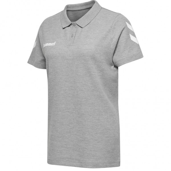 hummel-go-cotton-polo-women-grey