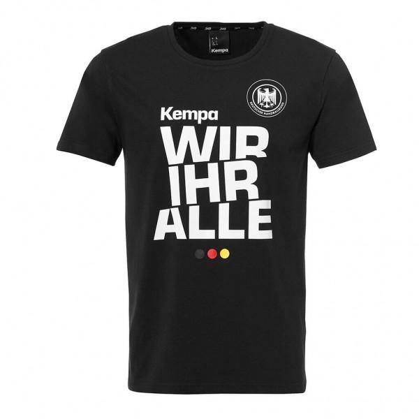 Kempa DHB Wir Ihr Alle T-Shirt in schwarz