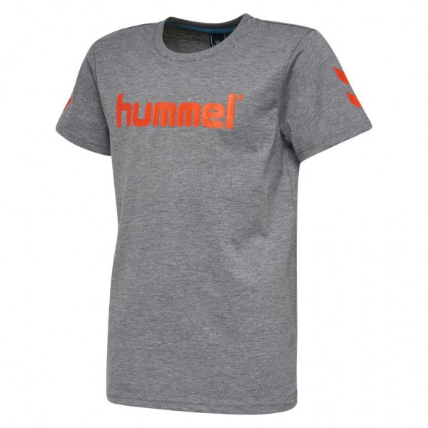 Das hummel Jaki Kinder T-Shirt in grau-orange kaufen
