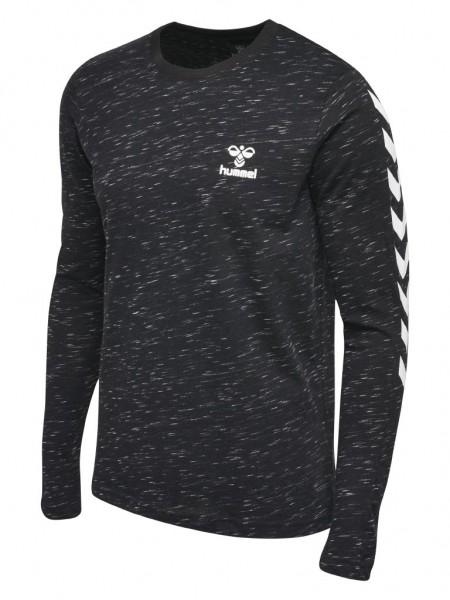 hummel Glay Longsleeve Shirt in schwarz-grau